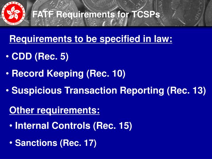 FATF Requirements for TCSPs