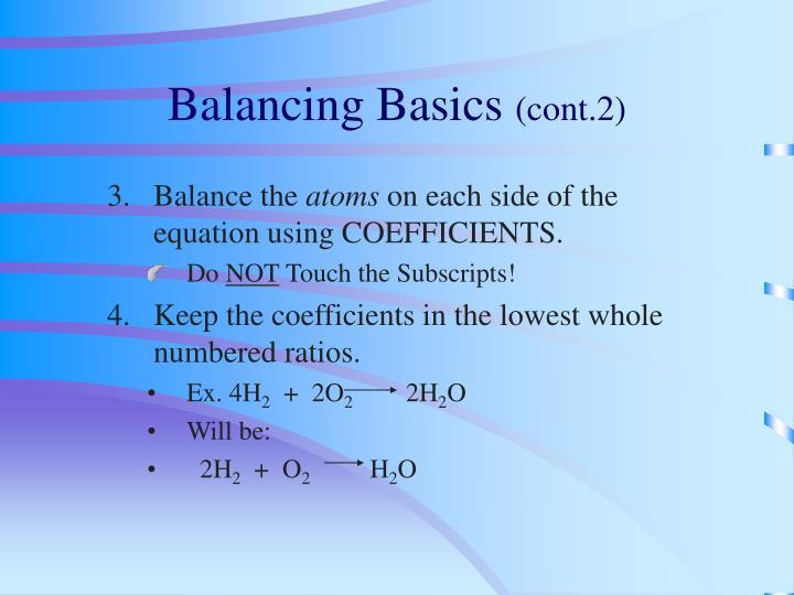 Balancing Basics
