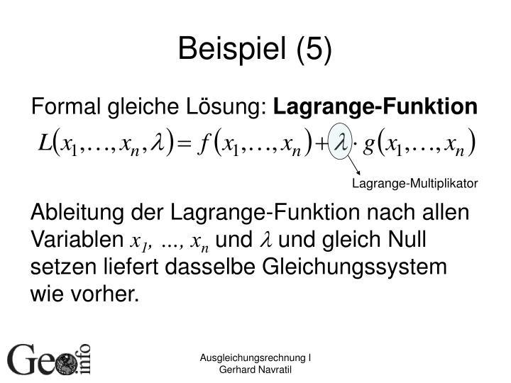 Lagrange-Multiplikator