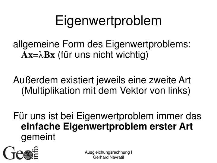 Eigenwertproblem