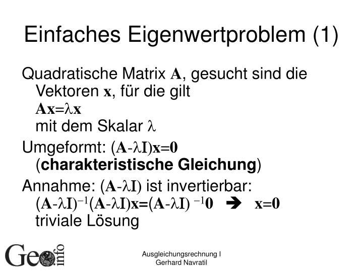 Einfaches Eigenwertproblem (1)