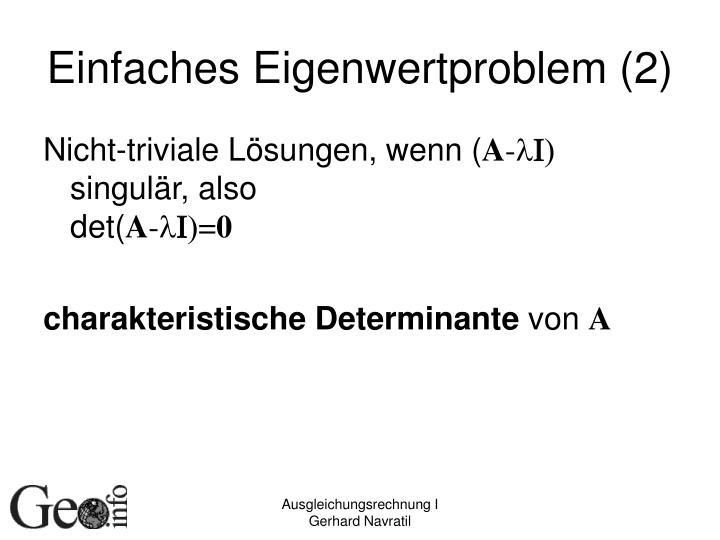 Einfaches Eigenwertproblem (2)
