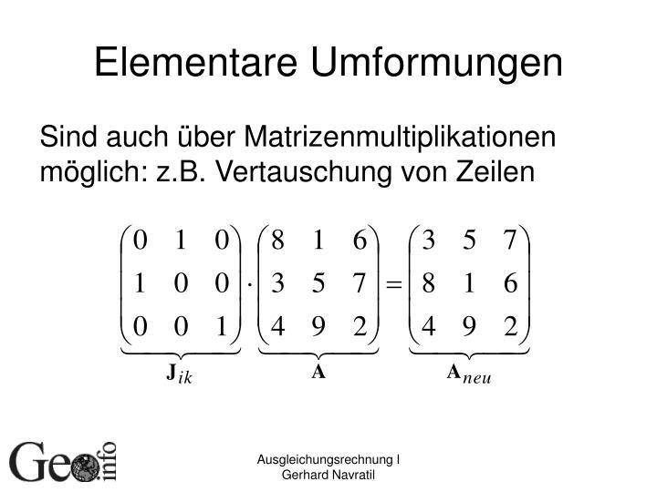 Elementare Umformungen