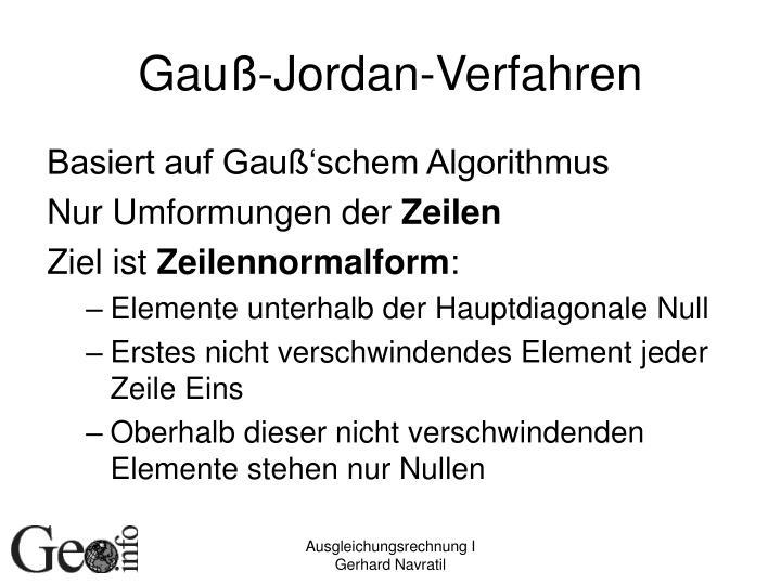 Gauß-Jordan-Verfahren