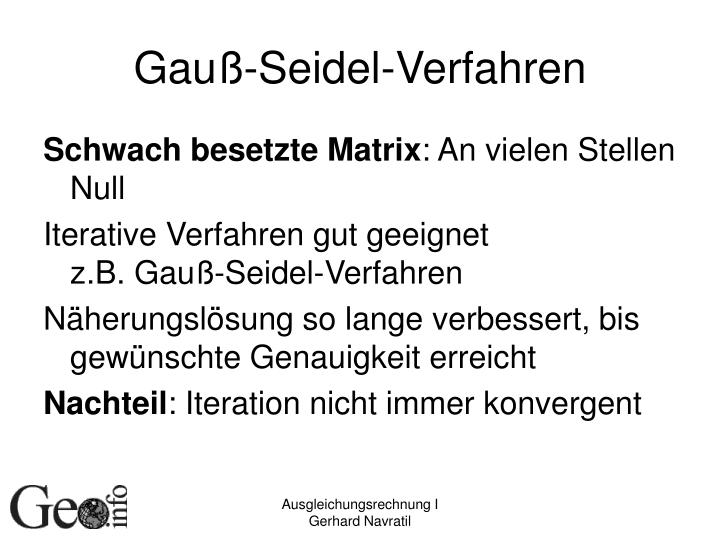 Gauß-Seidel-Verfahren