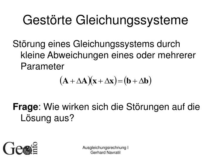 Gestörte Gleichungssysteme