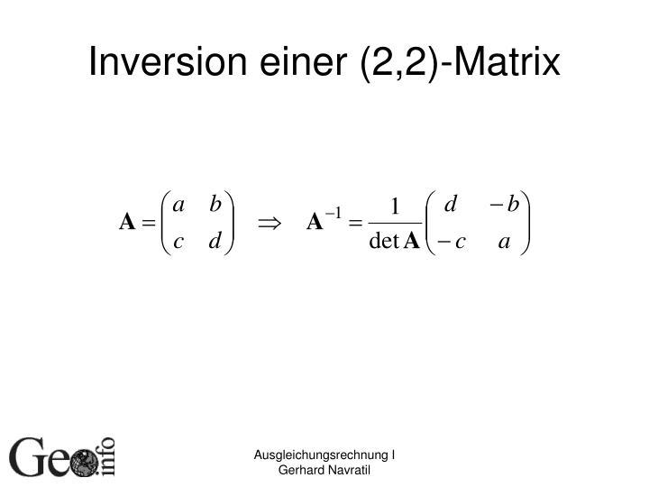 Inversion einer (2,2)-Matrix