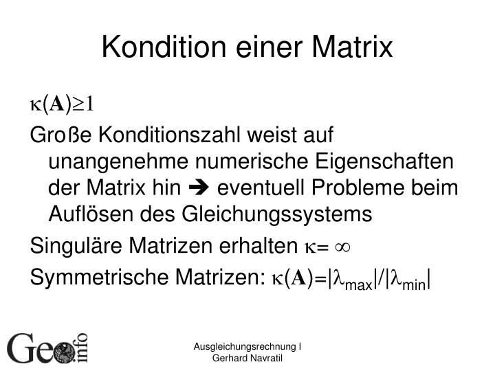 Kondition einer Matrix