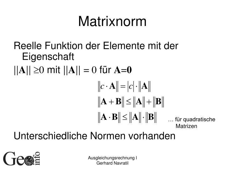 Matrixnorm