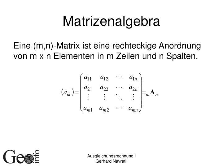 Matrizenalgebra