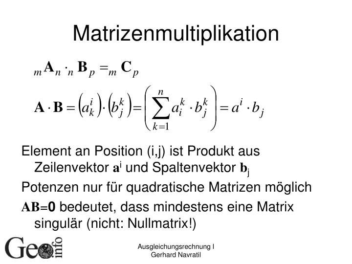 Matrizenmultiplikation