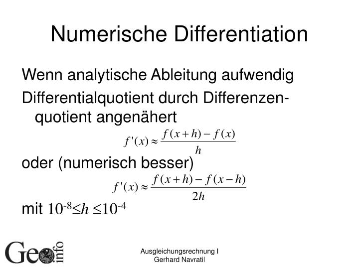 Numerische Differentiation