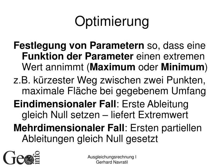 Optimierung