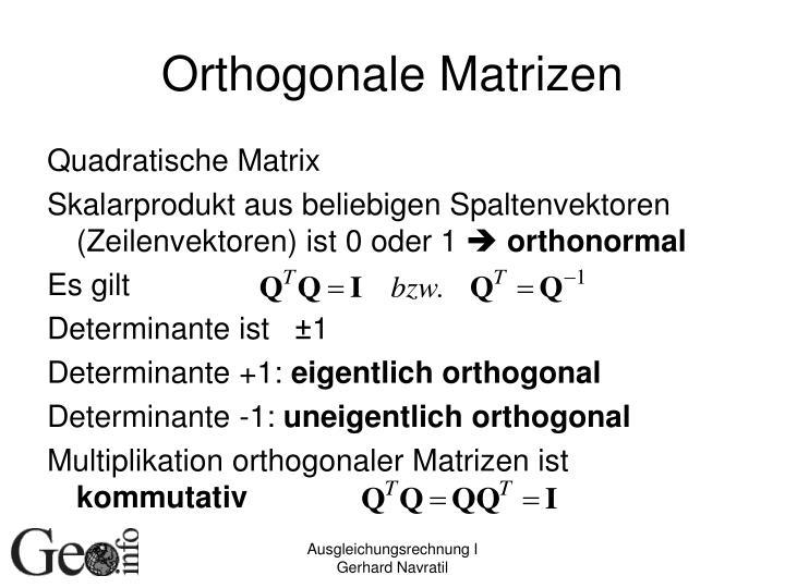 Orthogonale Matrizen