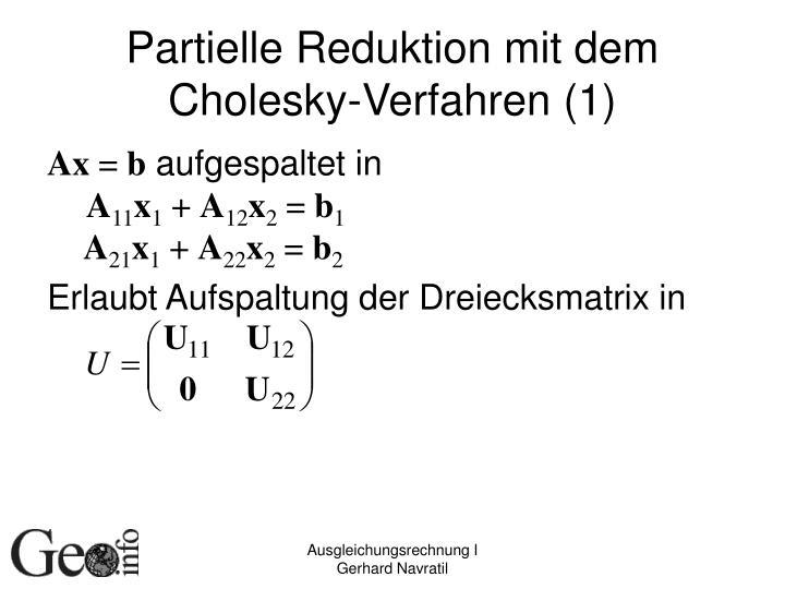 Partielle Reduktion mit dem Cholesky-Verfahren (1)