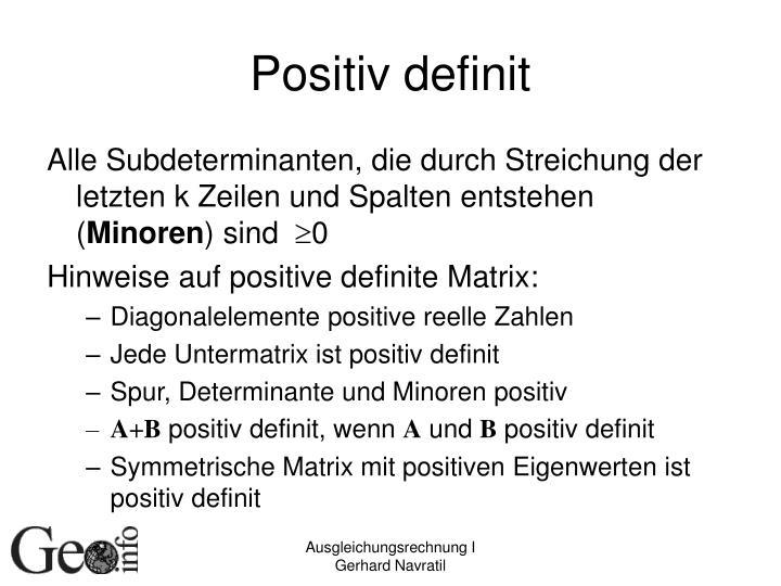Positiv definit
