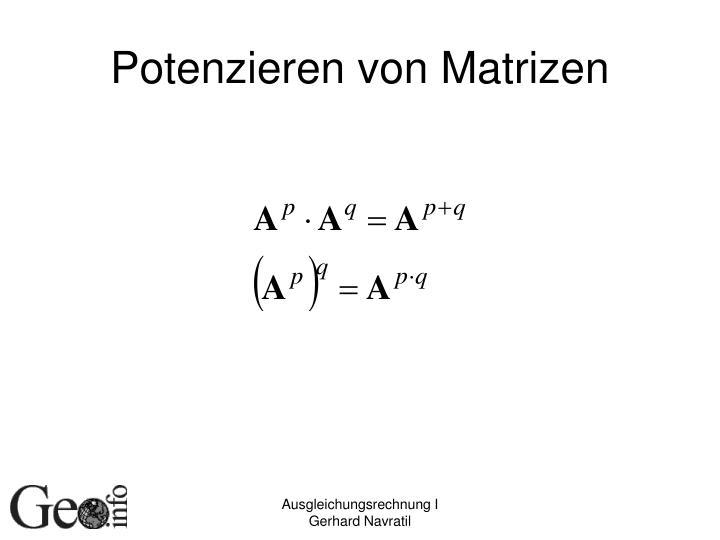 Potenzieren von Matrizen