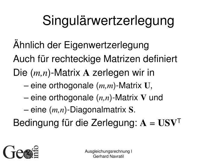 Singulärwertzerlegung