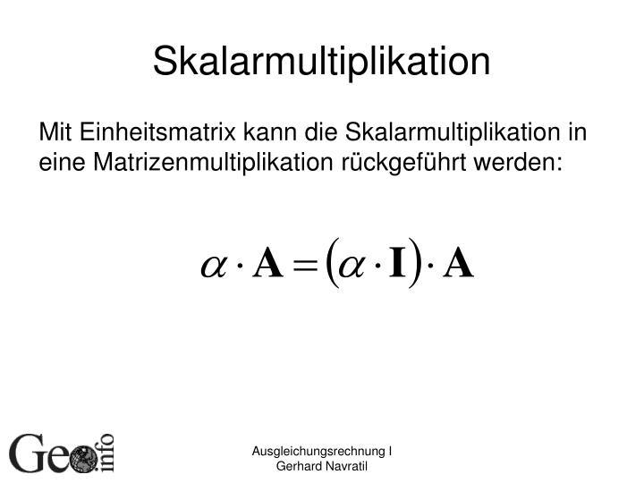 Skalarmultiplikation