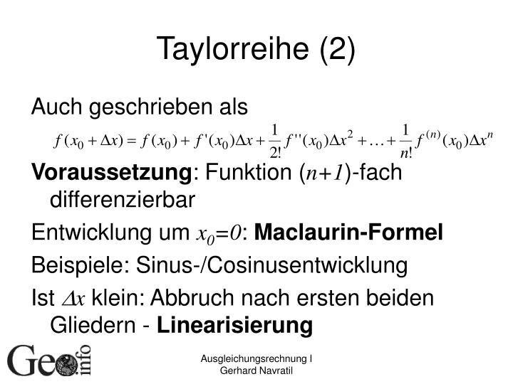 Taylorreihe (2)