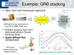 example grb stacking