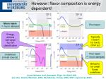 however flavor composition is energy dependent