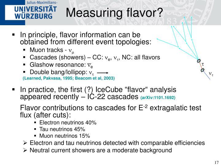 Measuring flavor?