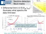 neutrino detection muon tracks