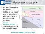 parameter space scan