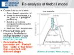 re analysis of fireball model