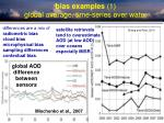 bias examples 1 global average time series over water