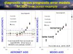 diagnostic versus prognostic error models modis over ocean example