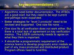 key recommendations 1