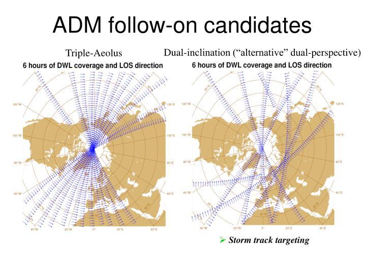 ADM follow-on candidates