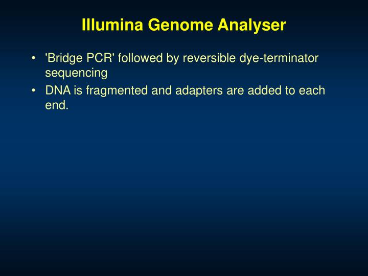 Illumina Genome Analyser