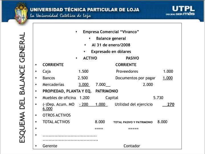 """Empresa Comercial """"Vivanco"""""""