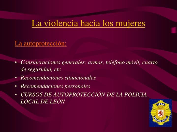 La violencia hacia los mujeres