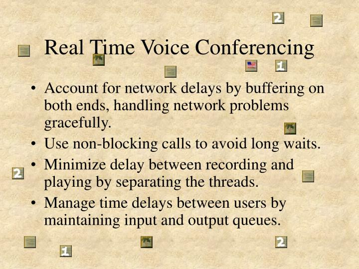 Real Time Voice Conferencing