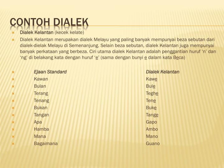 Dialek Kelantan