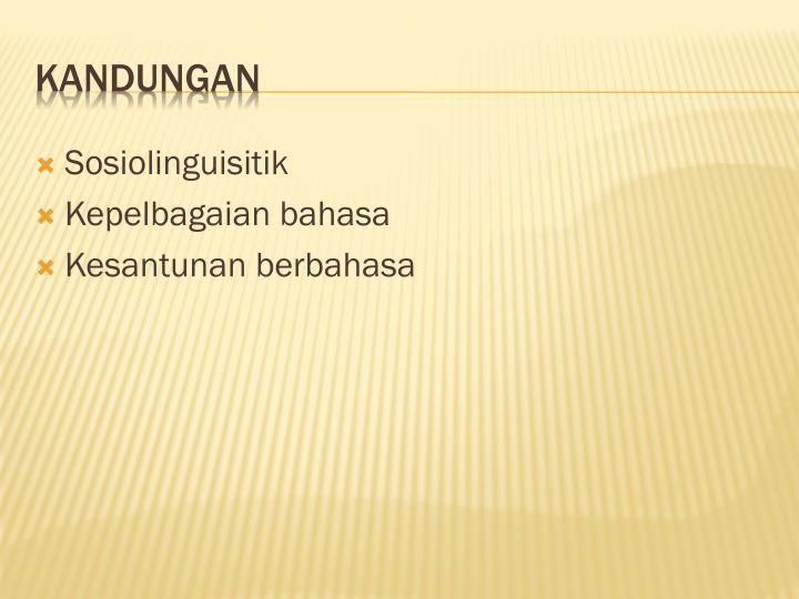 Sosiolinguisitik