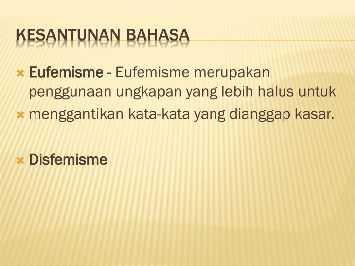 Eufemisme -