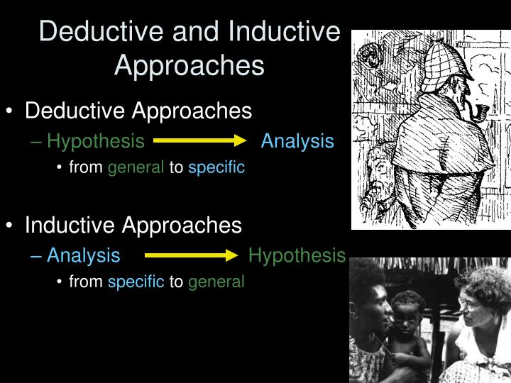Deductive and Inductive Approaches