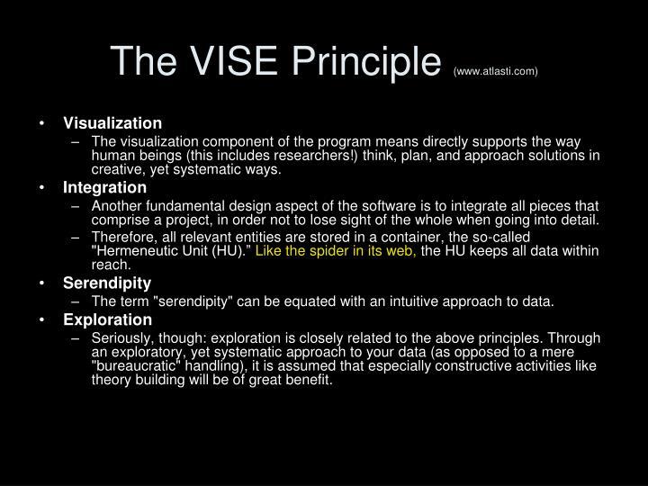 The VISE Principle