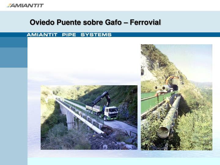 Oviedo Puente sobre Gafo – Ferrovial