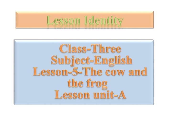 Lesson Identity
