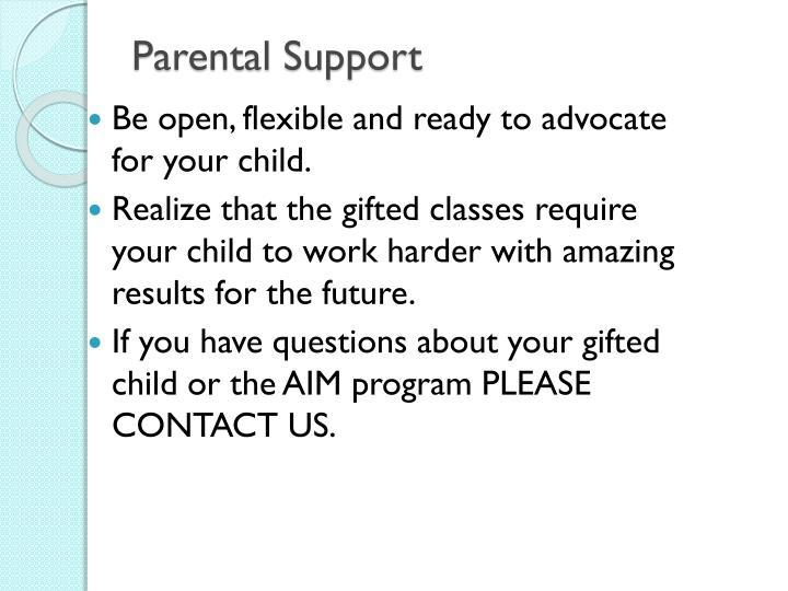 Parental Support