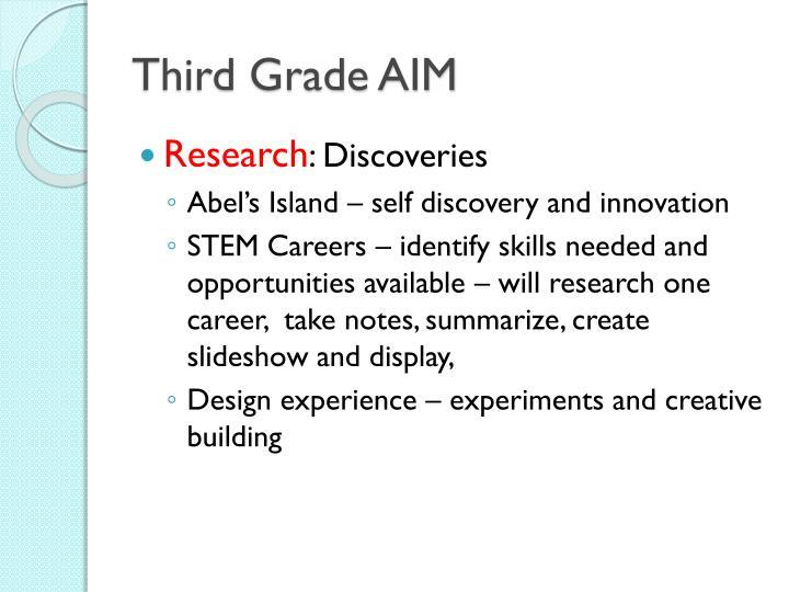 Third Grade AIM