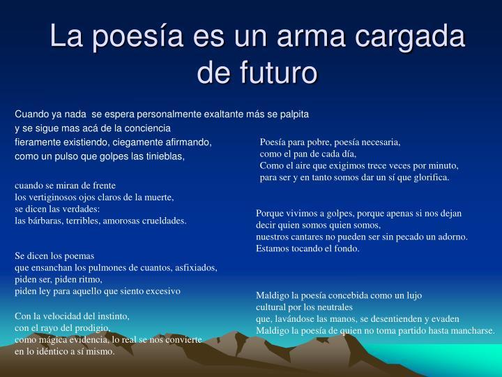 La poesía es un arma cargada de futuro