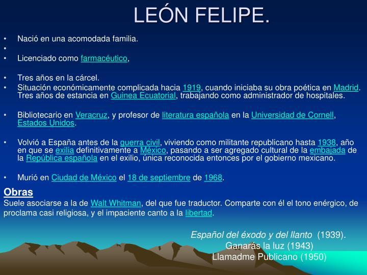 LEÓN FELIPE.