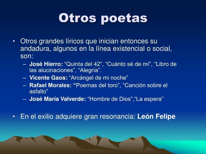 Otros poetas